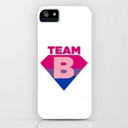 Team B Bisexual Symbol - Bi Sexual Flag Sign Gift Design iPhone Case