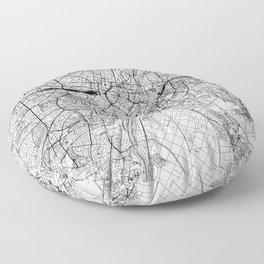 Munich White Map Floor Pillow