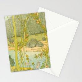 Gaston de Latenay Illustration from Nausicaa 1899 Vintage Pastel Landscape Fantasy Illustration Stationery Cards