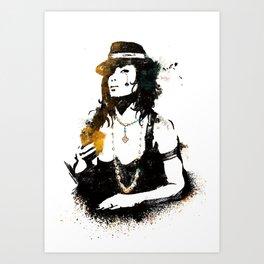 Poker woman Art Print