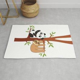 Cute Sloth & Panda Rug