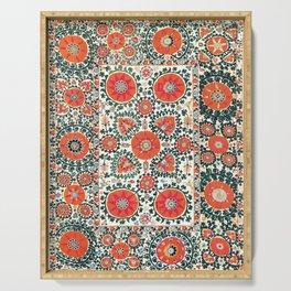 Shakhrisyabz Suzani Uzbek Embroidery Print Serving Tray