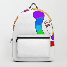Purride Gay Pride Cat Owner Lgbtq Flag Backpack