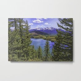 Sapphire Point 2 Painted Metal Print