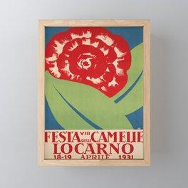 Advertisement locarno 1931 viii festa delle Framed Mini Art Print