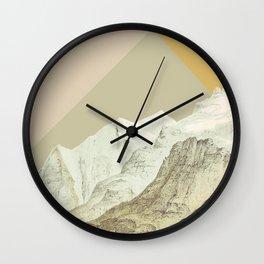 Modern Mountains No. 3 Wall Clock