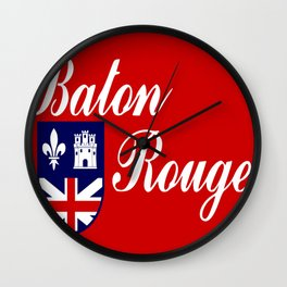 flag of baton rouge Wall Clock