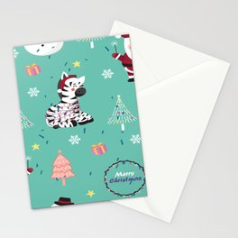 Santa Claus Pattern Stationery Cards