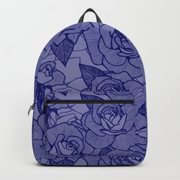 Navy Roses 2 Backpack