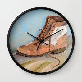 Shoe made for walking Wall Clock