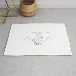 Hands line drawing - Janis Rug