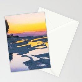 Pamukkale Crystal Salt Step Sky Reflections Sunrise Sunset Stationery Cards