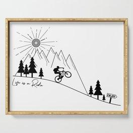 cycling mountain bike mountainbike cyclist bicycle MTB gift Serving Tray