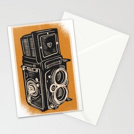 Oldschool camera old Stationery Cards