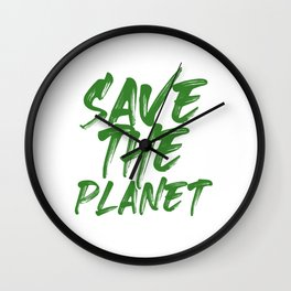 Environmentalist Gift Idea Save the Planet Climate Change Wall Clock