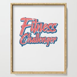 Fitness Challenger Gym Challenge Serving Tray