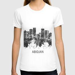 Abidjan Ivory Coast Skyline BW T-shirt