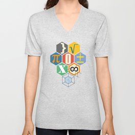 Math in color (white Background) Unisex V-Neck