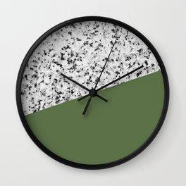 Granite and Kale Color Wall Clock