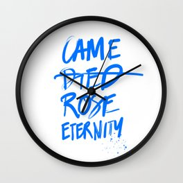 #JESUS2019 - Came Died Rose Eternity (blue) Wall Clock