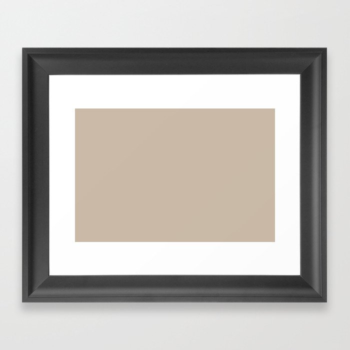 Best Seller Sherwin Williams Trending Colors of 2019 Dhurrie Beige SW 7524 Solid Color - Hue - Shade Gerahmter Kunstdruck
