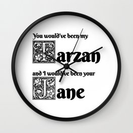 Tarzan & Jane Wall Clock