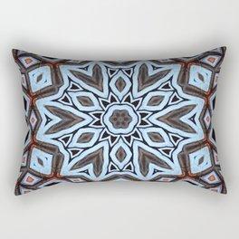 Arabesque // Geometric Design Kaleidoscope Morocco Egypt Blue Mandala Gypsy Bohemian Sacred Geometry Rectangular Pillow