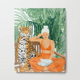 Jungle Vacay Metal Print