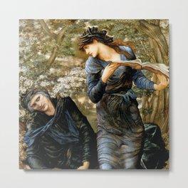 "Edward Burne-Jones ""Beguiling of Merlin"" Metal Print"