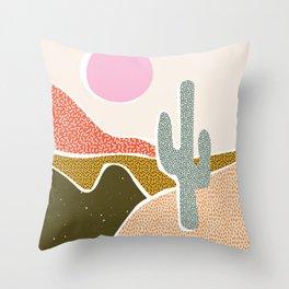 Patterned Desert Throw Pillow