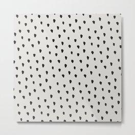 Messy Brush Spots Warm Grey Metal Print