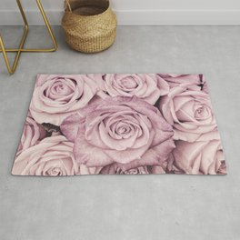 Some People Grumble - Pink Rose Pattern - Roses Garden Rug