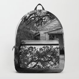 Out Of Gas - Black And White Backpack