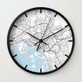 Oslo City Map of Norway - Circle Wall Clock