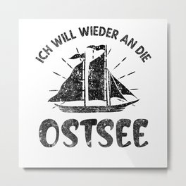 Ostsee Sehnsucht Metal Print