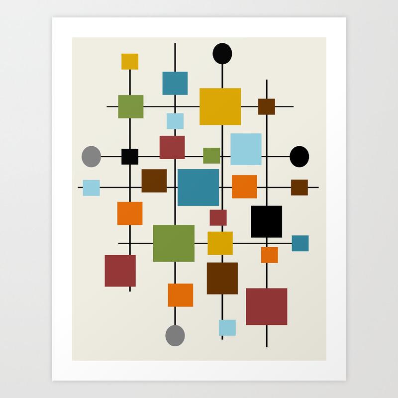 Mid Century Modern Art 20.20 Kunstdrucke