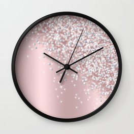 Princess Candy Bubble Gum Drops Faux Bokeh Ombre Delight Wall Clock
