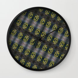 Brass Knuckles Pattern Wall Clock