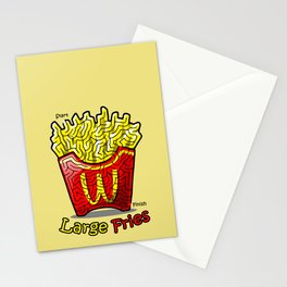 Maze Shirts: Large Fries Stationery Cards