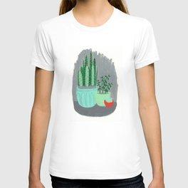 House Plants jade plant cactus snake plant T-shirt