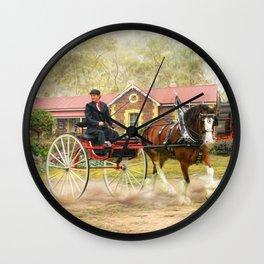 Full Steam Wall Clock