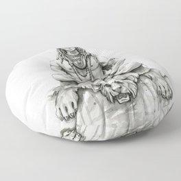 Lord Shiva Painting, Shiva Art, Meditation Shiva Portrait Floor Pillow