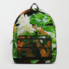 Flowers At Dusk Lit By Lantern Light Backpack