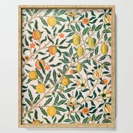 Lemon tree pattern vintage William Morris print Serving Tray