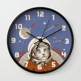 Soviet Space Cat Wall Clock
