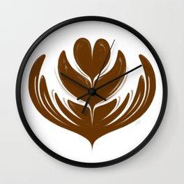 Latte Tulip Wall Clock