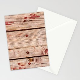 Used Rough Wooden Planks Stationery Cards