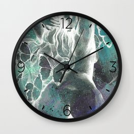 Sugar Coated Sour: Negative (nude curvy pin up with butterflies) Wall Clock