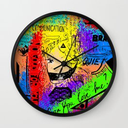 Cluttered Mind Wall Clock