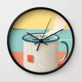 Cup of sea Wall Clock